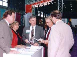 Past EDPA presidents: Jay Barnwell, Ingrid Boyd, Bruce Deckel, Doug Zegal