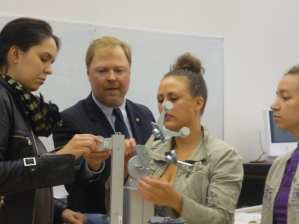 Norm Friedrich of Octanorm USA leading a design workshop with students.