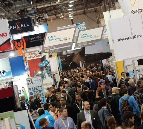 Sands Expo Center show floor during CES.