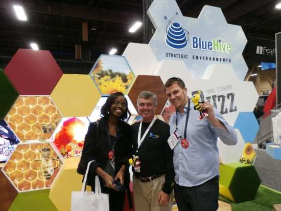Blue Hive Strategic Environments awarded Best of Show - Small Booth for its honeybee theme.