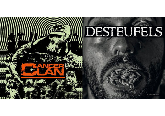 German metal punks CANCER CLAN and DESTEUFELS premiere their upcoming split LP