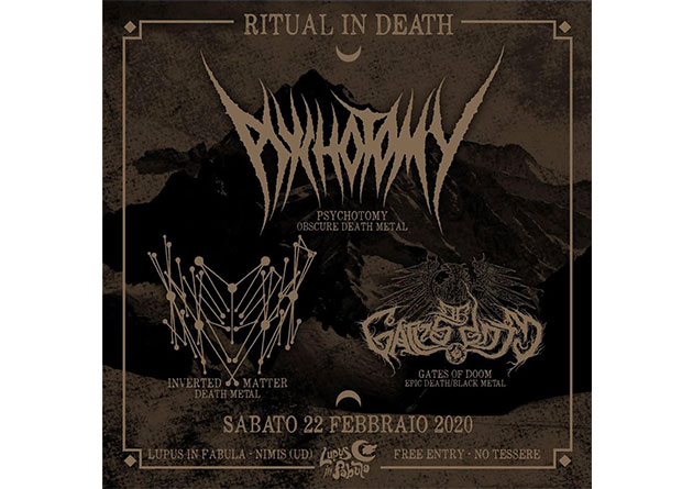 Italian death metallers Inverted Matter – upcoming Italian show