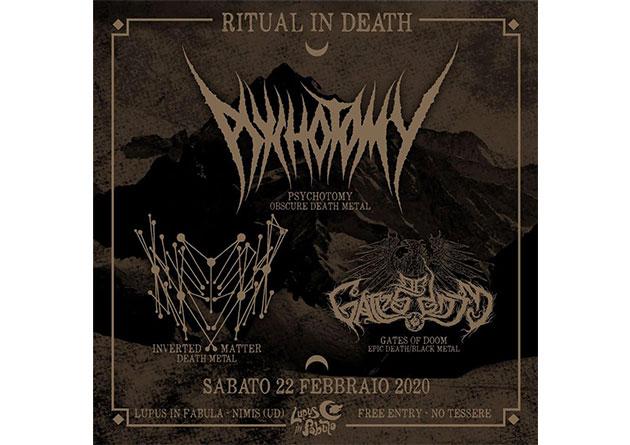 Italian death metallers Inverted Matter – upcoming Italian show