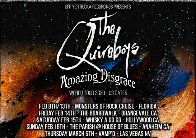 Bam Ross Original Dogs D'Amour Drummer Joins The Quireboys for US & Australian Legs of World Tour by Fan Demand