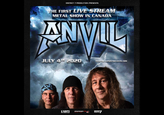 Anvil's July 4th Quebec City Live Stream Available Online Until July 14th