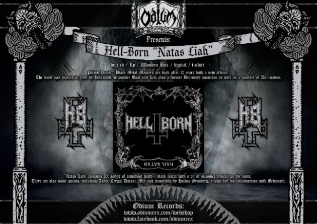"Hell-Born and Odium Records present the 2nd single ""Blakk Metal"" from the new album ""Natas Liah"" out on 26th of January"