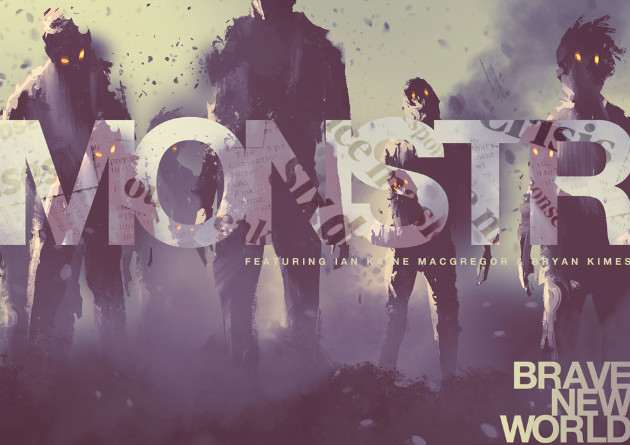 "US hard rock band, MONSTR, presents a video visualizer for their new single ""Brave New World"""