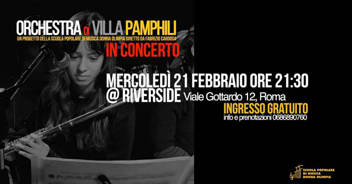 RIVERSIDE (ROMA) - Food Sounds Good - I live di questa settimana