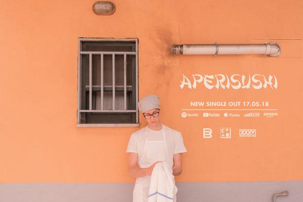 """""""APERISUSHI"""" è il nuovo singolo/videoclip di DUTTY BEAGLE girato da Francesco D'Antonio (Villa PerBene, Zelig Off, Colorado) e Enrico Francese"""