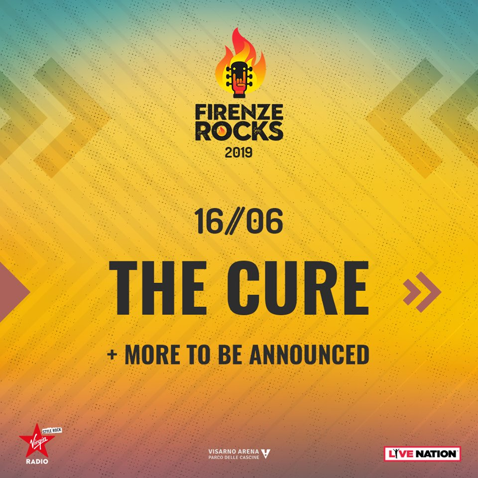The Cure: i primi headliner annunciati di FirenzeRocks 2019