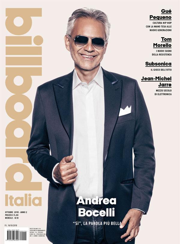 BILLBOARD ITALIA: in edicola il nuovo numero con la cover story dedicata ad ANDREA BOCELLI!