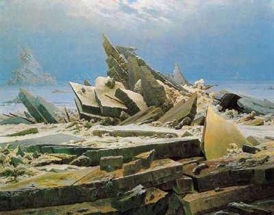 Caspar David Friedrich  Il mare di ghiaccio  Exibartcom