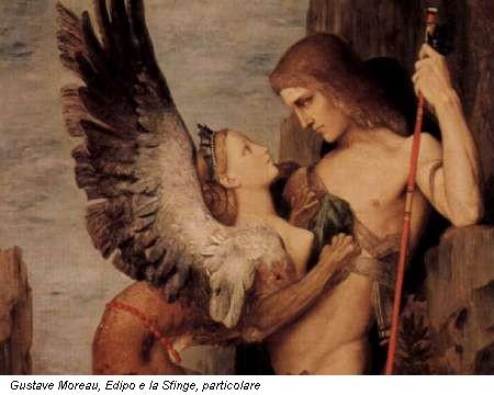 Gustave Moreau, Edipo e la Sfinge, particolare