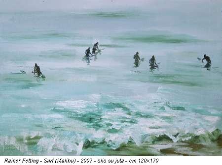Rainer Fetting - Surf (Malibu) - 2007 - olio su juta - cm 120x170