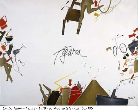 Emilio Tadini - Figura - 1979 - acrilico su tela - cm 150x195