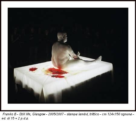 Franko B - Still life, Glasgow - 2005/2007 - stampa lambd, trittico - cm 124x150 ognuna - ed. di 15 + 2 p.d.a.