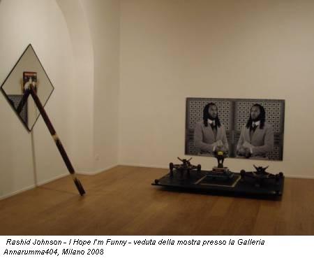 Rashid Johnson - I Hope I'm Funny - veduta della mostra presso la Galleria Annarumma404, Milano 2008