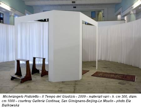 Michelangelo Pistoletto - Il Tempo del Giudizio - 2009 - materiali vari - h. cm 300, diam. cm 1000 - courtesy Galleria Continua, San Gimignano-Beijing-Le Moulin - photo Ela Bialkowska