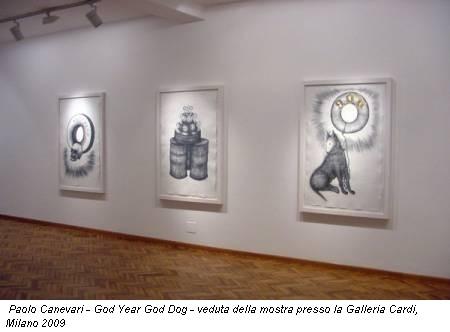 Paolo Canevari - God Year God Dog - veduta della mostra presso la Galleria Cardi, Milano 2009