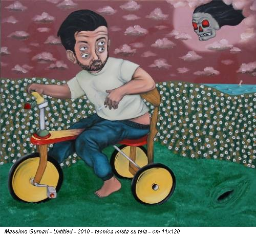 Massimo Gurnari -  Untitled - 2010 - tecnica mista su tela - cm 11x120