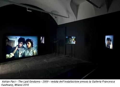 Adrian Paci - The Last Gestures - 2009 - veduta dell'installazione  presso la Galleria Francesca Kaufmann, Milano 2010