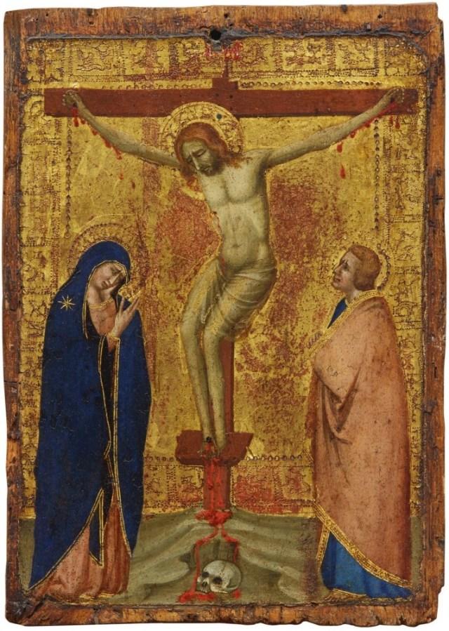 Roberto d'Oderisio, Crocifissione con la Vergine e San Giovanni Evangelista. Stima: $ 400.000 - 600.000. Sotheby's