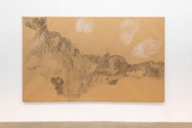 Paesaggio della Manciuria, 1981 Carta telata, carboncino, gesso, pastelli; 202 x 340 cm; foto: Giorgio Benni. Courtesy l'artista e Monitor Roma, Lisbona, Pereto