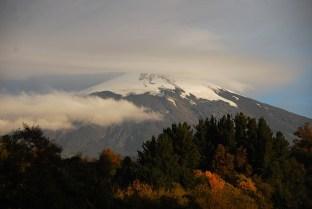 Vulkan Villarrica am Abend vor dem Aufstieg