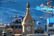 Uhr Turm in Valparaiso