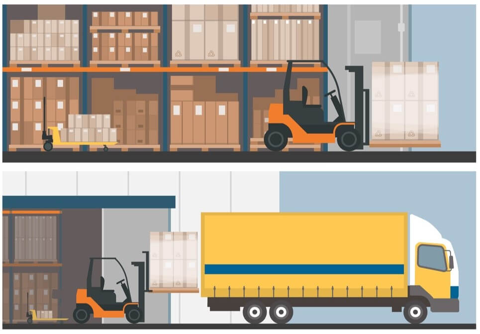 palletization and removal of server pallets