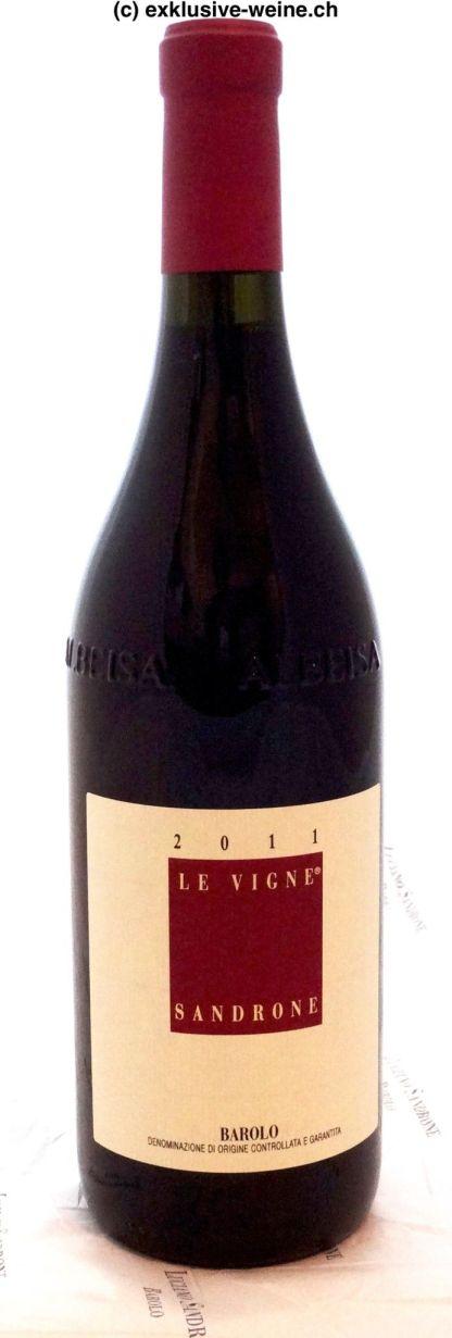 Die Abbildung zeigt eine Flasche Barolo Le Vigne von Luciano Sandrone