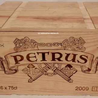 Chateau Petrus 2009 original wooden case