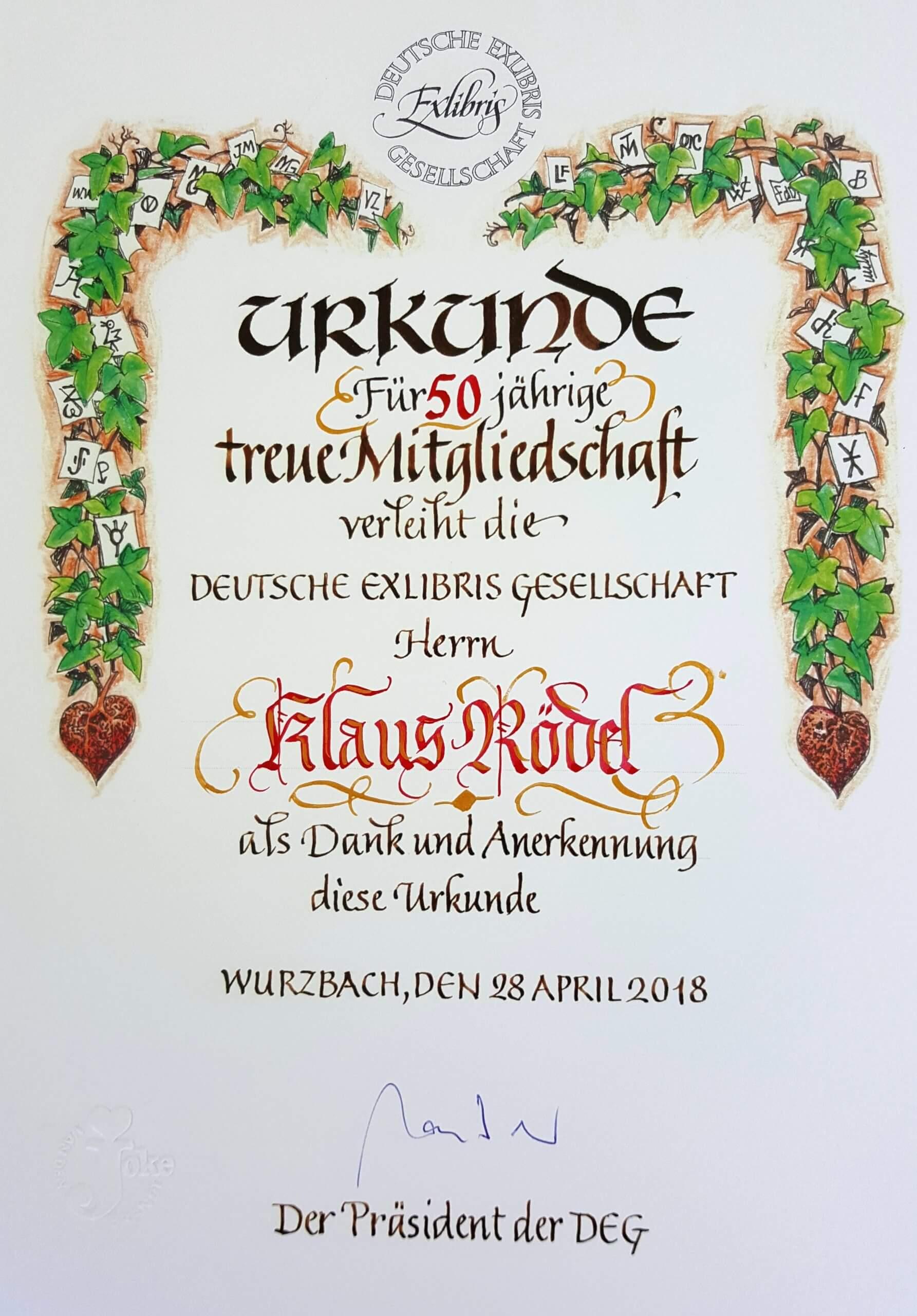 Wurzbach-Rödel-Urkunde-50-Jahre