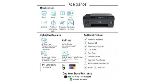 Buy HP Smart Tank 515 All-in-One Wireless Ink Tank Colour