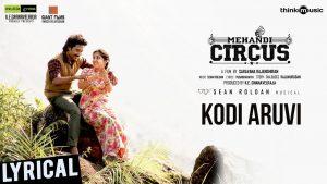 kodi aruvi song lyrics from mehandi circus, sean roldan