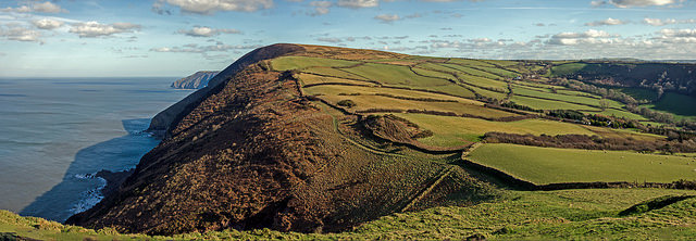 View East from Little Hangman, Exmoor