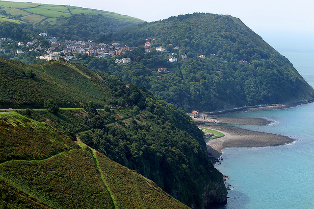 Exmoor cliffs towards Lynmouth