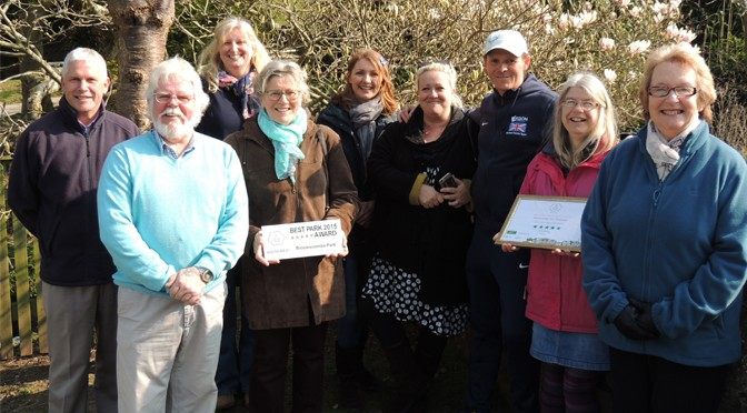 BICCLESCOMBE PARK PROUD TO WIN PRIDE OF PARKS AWARD