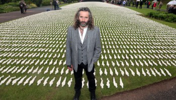 UNVEILING OF THE SHROUDS OF THE SOMME AT QUEEN ELIZABETH
