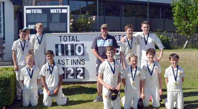 U14 CRICKET TEAM TAKES COUNTY TITLE