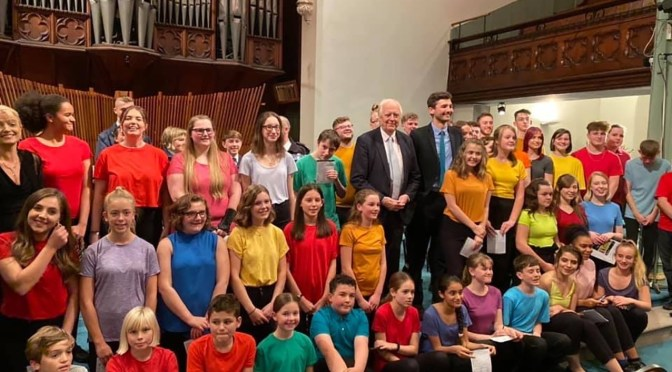 WEST SOMERSET SINGERS PERFORM WITH SIR TIM RICE