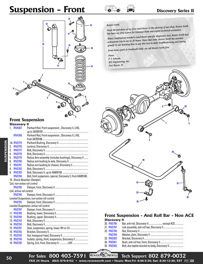 discovery 2 ace wiring diagram 2008 ford f250 radio ii front axle suspension exmoor trim usa land rover