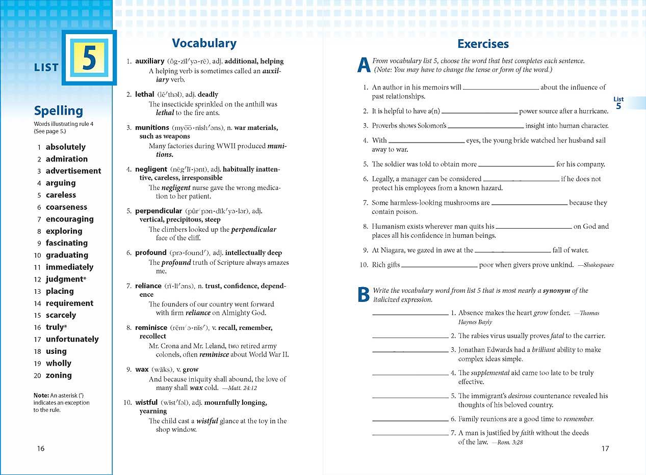 Vocabulary Spelling Poetry Ii