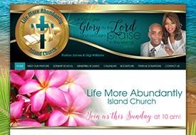 Life More Abundantly Island Church Web Design