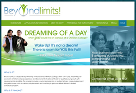 web design for non-profit Beyond Limits