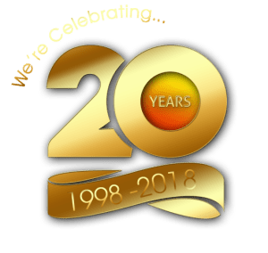We're celebrating 20 years of business
