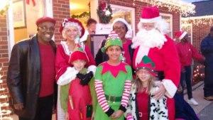 Christmas Lights Festival Rev and Santa Family