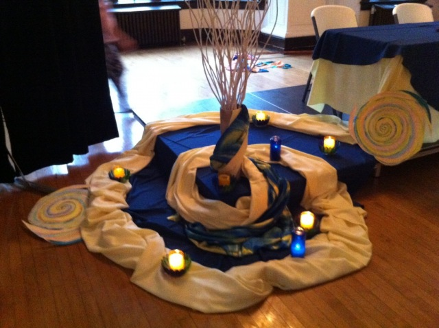 Spiral altar at the Sisters of Earth Conference, July 2012