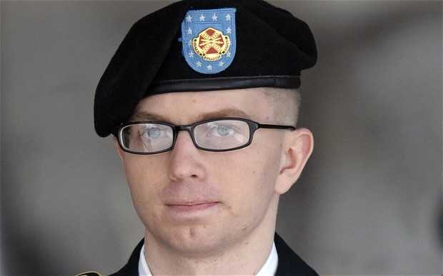 "Manning invoked that late Howard Zinn, quoting, ""There is not a flag large enough to cover the shame of killing innocent people."""