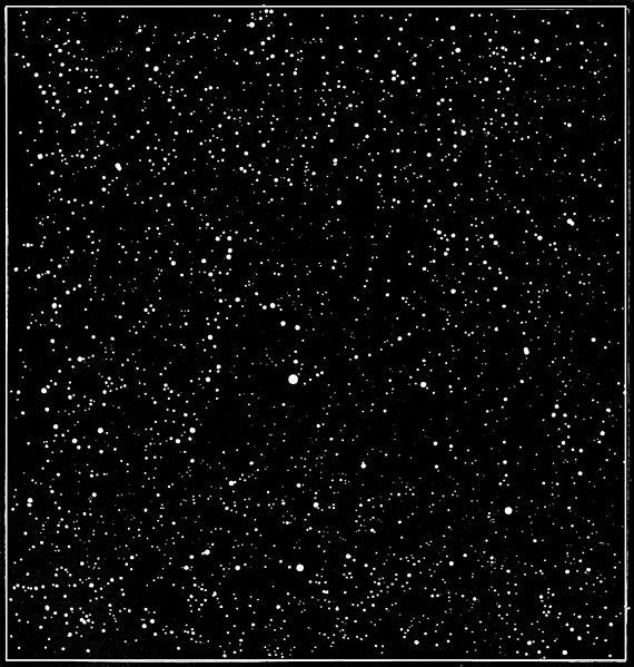 Night sky, seen through telescope